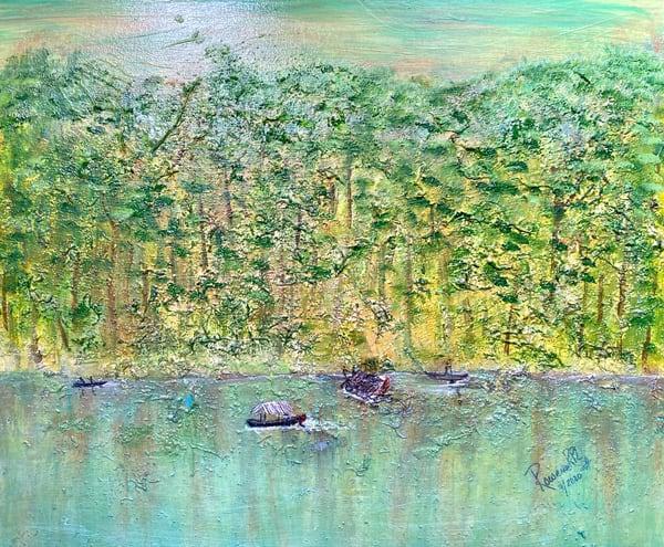 Amazon's River Twilight Art | Rowena Art Shop