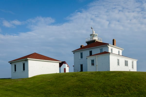 The keeper's house of the lighthouse at Watch Hill, Westerly, RI, built in 1856.