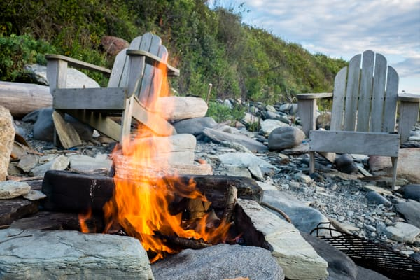 Campfire On The Beach Photography Art | Ed Lefkowicz Photography