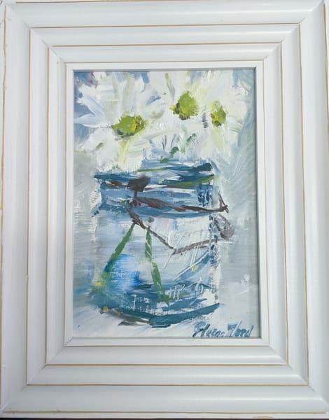 Elaine Ford - original artwork - Blue Mason and Daisies