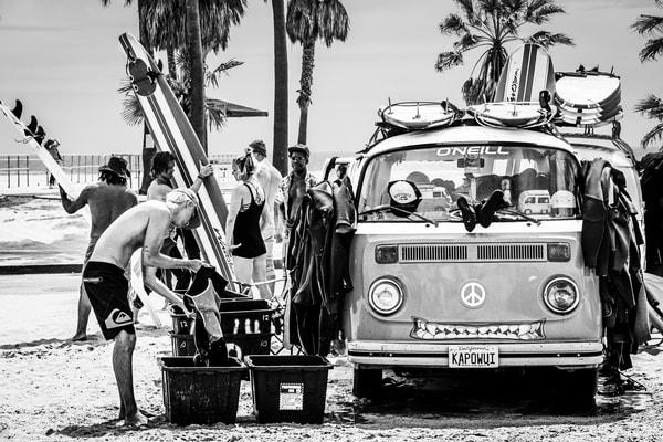 Surf's Up   Black & White Version Photography Art   Charles Santora Photography