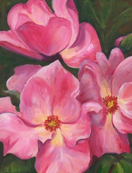 Pink Flowers Art | Linda Sacketti