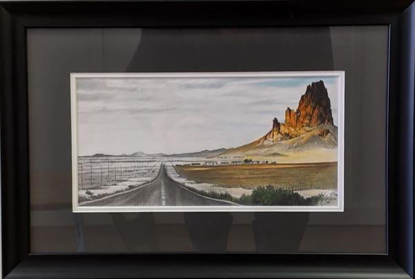 Dan Garcia - original artwork - colored pencil - Arizona - The Long Road