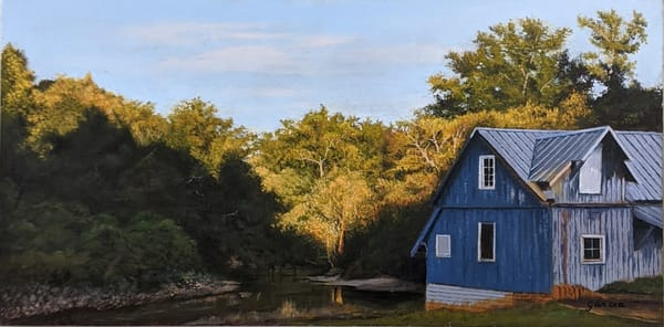 Dan Garcia - original art - landscape - Georgia - Sundown on the Flint River