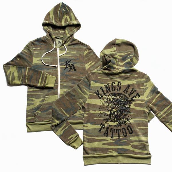 Ka Tiger Camo Hoodie | Kings Avenue Tattoo