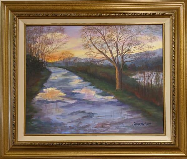 Sandy Holcomb - original artwork - rain - Tuscany - Rainy Road in Tuscany