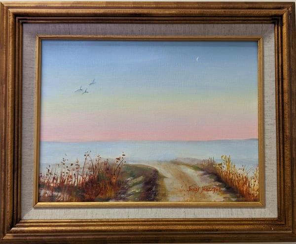 Sandy Holcomb - original artwork - beach - fog - Misty Morning