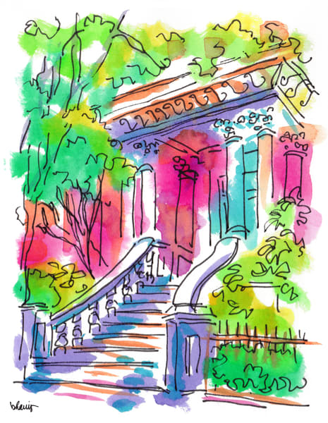 kehoe house, savannah, georgia:  fine art prints in cheerful watercolor available for purchase online