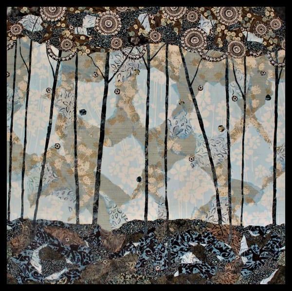 Tranquil, textile mosaic, Tesser