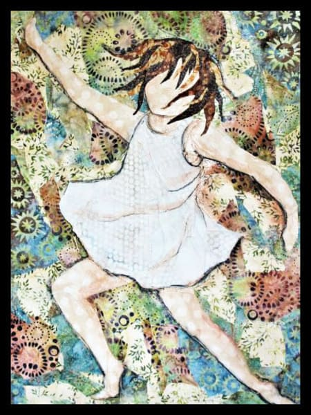 Hope You Dance is a textile mosaic by Sharon Tesser