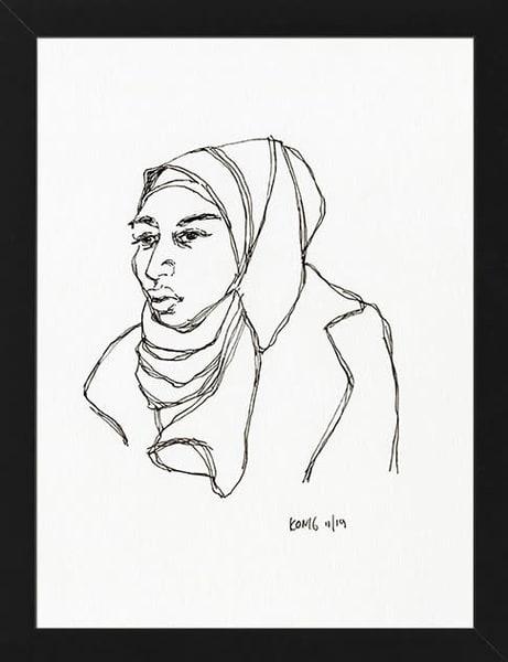 Hijab Woman Art   RPAC Gallery