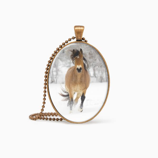 Ember's Snowy Day   Pendant   Deb Little Photography