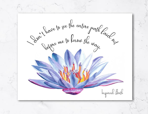 Inspired Birth Affirmation Cards | Creative Spirit Studios