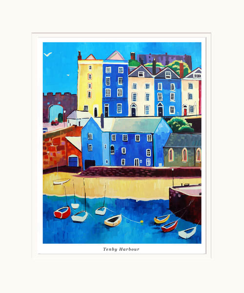 Tenby Harbour Small Art Print