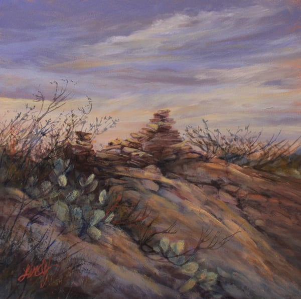 Lindy Cook Severns Art | Ghost Town At Sunrise, print