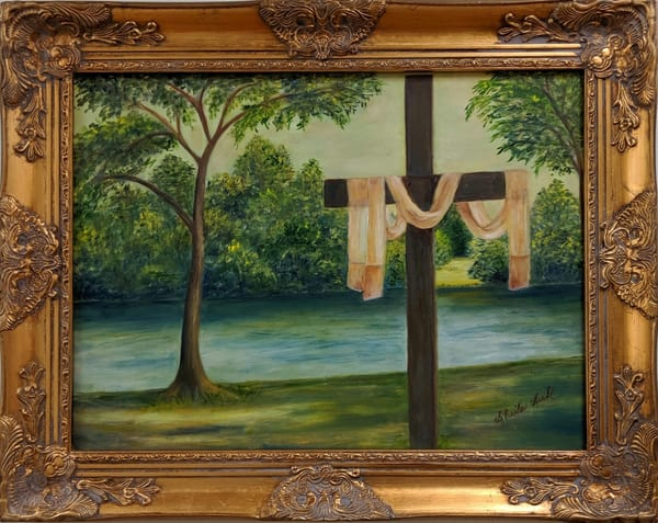 Sheila Sell - original artwork - religious - There's Room at the Cross