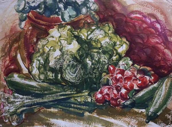 vegetables watercolor water color lila lewis irving