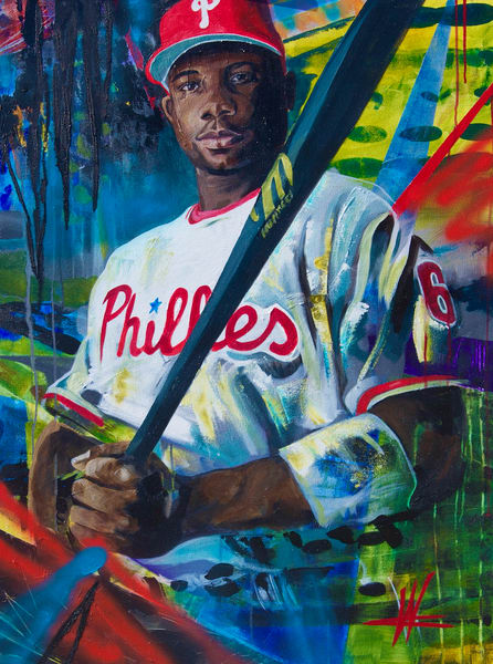 Ryan Howard. Original Painting Art   Cortney Wall Fine Art