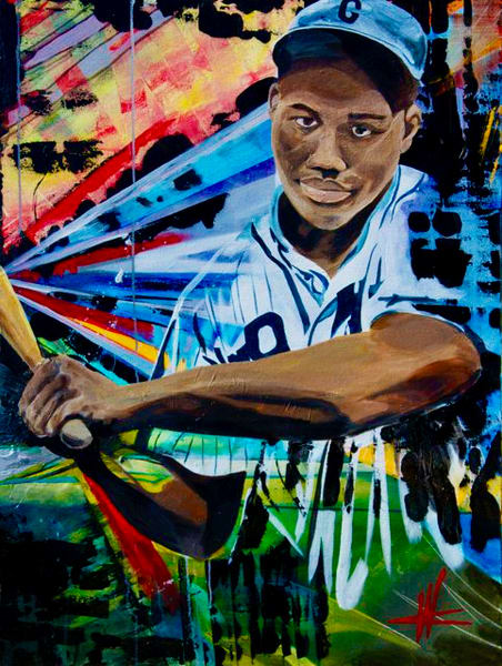 Josh Gibson. Original Painting Art   Cortney Wall Fine Art