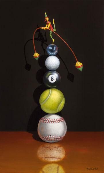 On The Ball Art | Richard Hall Fine Art