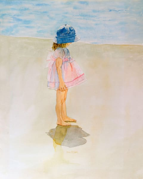 Penny for Your Thoughts is a Watercolor and Print by Donna  D. Turgeon