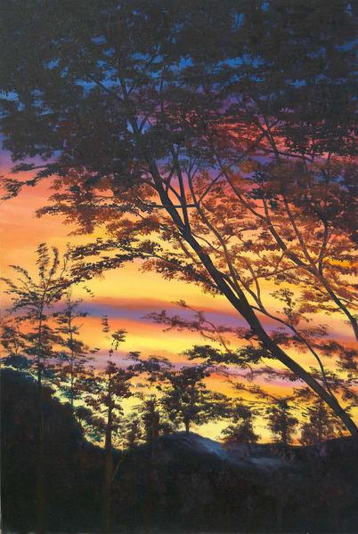 Aterdecer En Tolima,2008,Oil On Canvas   artecolombianobyberenice