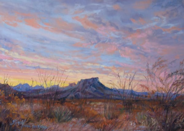 Lindy Cook Severns Art | Yellow Sunrise of Texas, signed print