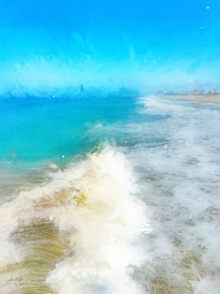 Manhattan Beach Waves - Turquoise