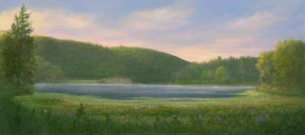 *Misty Morning At Innisfree Gardens, Millbrook Ny* Art | Tarryl Fine Art