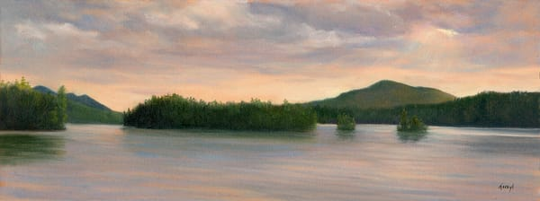 *Sunset Over Sister Islands, Adirondacks* Art | Tarryl Fine Art