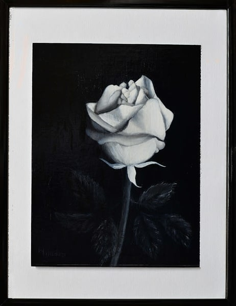 Bw Rose Art | Liliedahl Art
