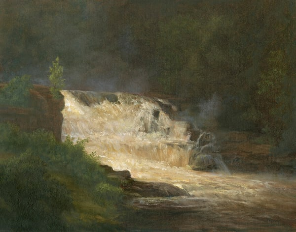 *St. Regis Falls On A Dark And Moody Day, Adirondacks* Art | Tarryl Fine Art