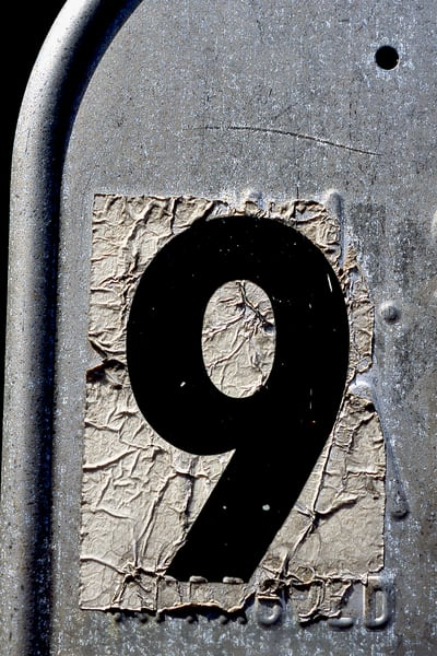 Number Nine Abstract Mailbox Fine Art Print - Sherry Mills