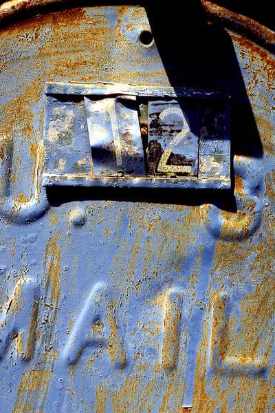 Blue Number Twelve Woodstock Mailbox Print - Sherry Mills