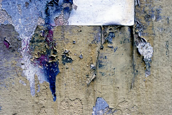 Delicate Peeling Paint Florence Wall Print - Sherry Mills