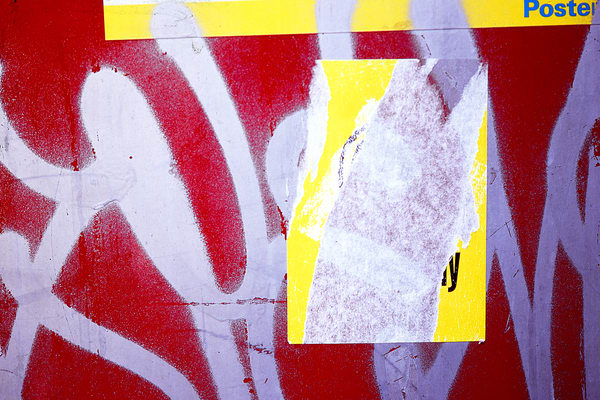 Graffiti Abstract Yellow Red Florence Print - Sherry Mills