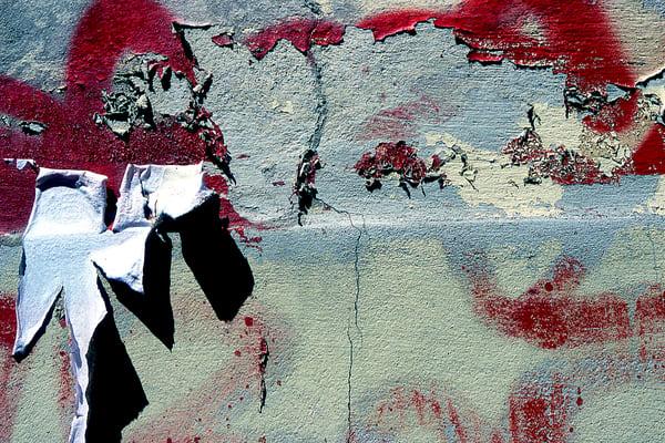 Weathered Florence Graffiti Wall Eye Candy - Sherry Mills