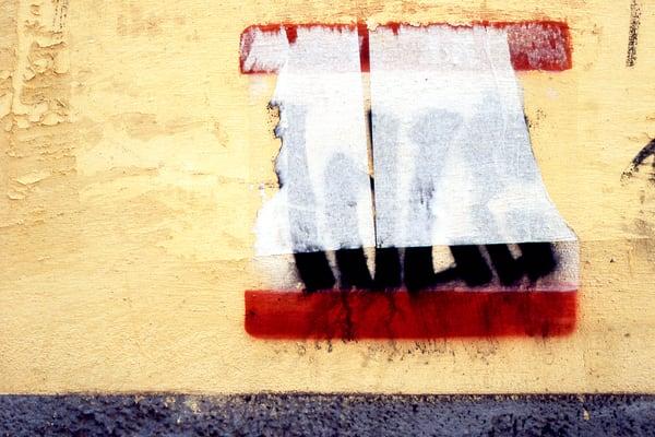 Minimalist Abstract Graffiti Florence Print - Sherry Mills