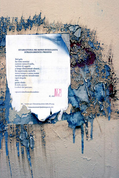 Weathered Poem Florence Wall Detail Print - Sherry Mills