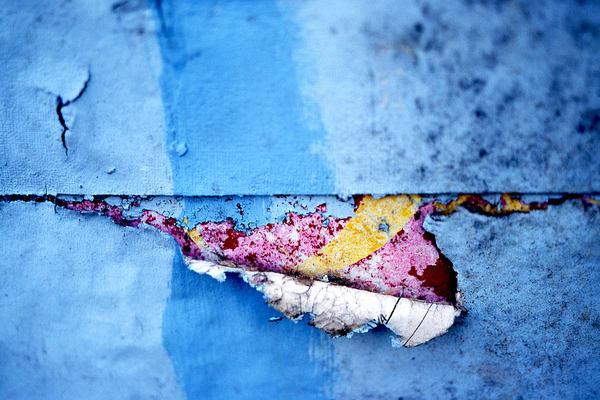 Blushing Hard Abstract Soho Blue Wall Print – Sherry Mills