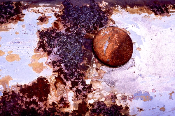 Chelsea Piers Abstract Rust Fine Art Print – Sherry Mills