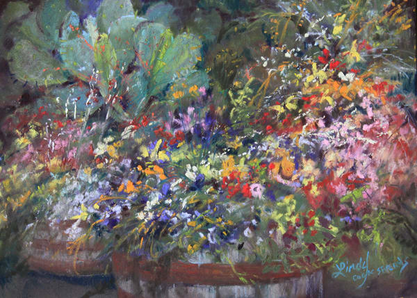 Lindy Cook Severns Art | Cactus Amid the Flowers, print