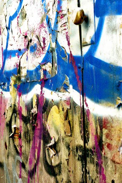 Natural Collage Graffiti Door in SoHo Print – Sherry Mills