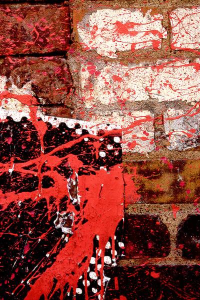 Red Paint Splattered Brick NYC Wall Print – Sherry Mills