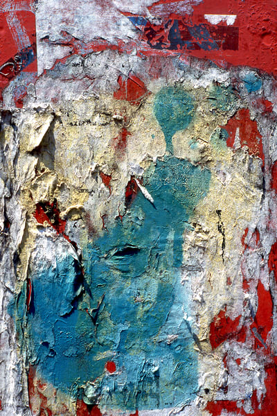 Abstract Layered Natural NYC Collage Print – Sherry Mills