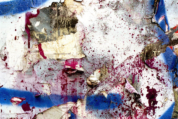 Accidental Collage Wall SoHo NYC Photo Print – Sherry Mills