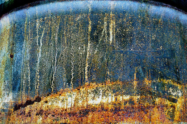 Rusty Oil Drum Abstract Fine Art Print – Sherry Mills