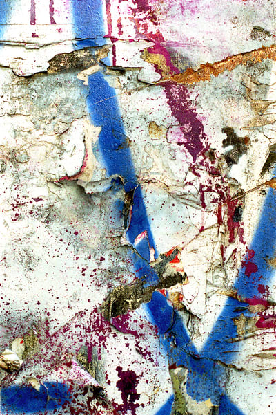 Abstract Expressionist NYC Wall Detail Print – Sherry Mills