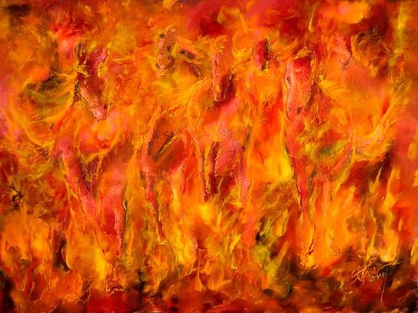 Runaway Flames Art | Hackley Fine Art