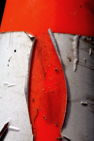 Abstract Orange Traffic Cone Fine Art Print – Sherry Mills